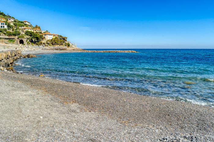 immagine del mare di Cervo e delle sue spiagge
